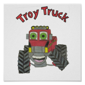 Troy Truck Poster