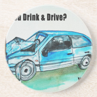 troygift drunk driving drink coasters
