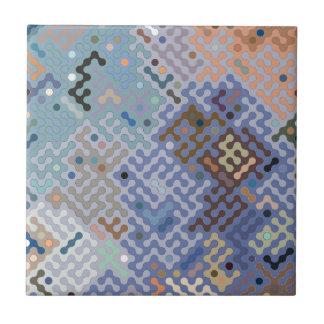Truchet pattern 1 - blue brown small square tile