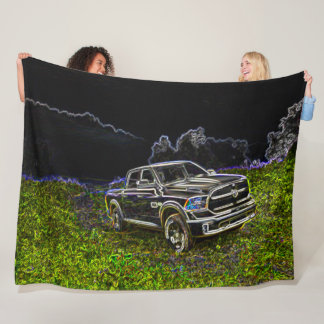 Truck Art Neon Airbrush Graffiti Art Fleece Blanket
