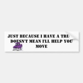 TRUCK BUMPER STICKER