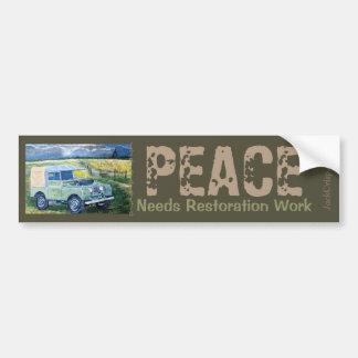 """Truck Cab ""FREYA"" ~PEACE Needs Restoration Work. Bumper Sticker"
