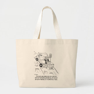 Truck Cartoon 0040 Large Tote Bag