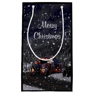 Truck Driver Christmas Small Gift Bag