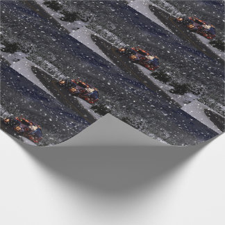 Truck Driver Christmas Wrapping Paper