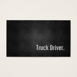 Truck Driver Cool Black Metal Simplicity Business Card