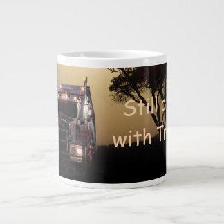 Truck driver large coffee mug