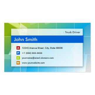 Truck Driver - Modern Multipurpose Business Cards