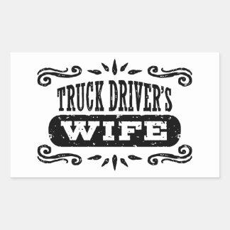 Truck Driver's Wife Rectangular Sticker