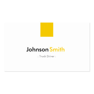 Truck Driver - Simple Amber Yellow Pack Of Standard Business Cards