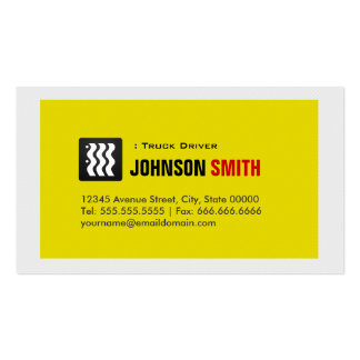 Truck Driver - Urban Yellow White Business Card Templates