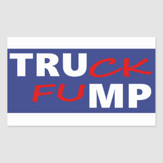 Truck Fump Rectangular Sticker