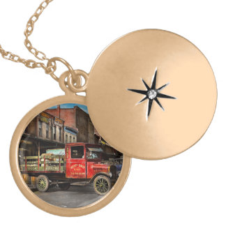 Truck - Home dressed poultry 1926 Gold Plated Necklace