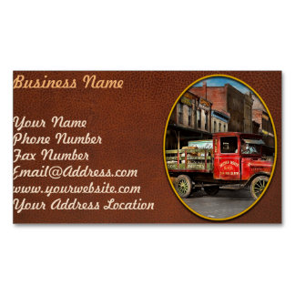 Truck - Home dressed poultry 1926 Magnetic Business Card