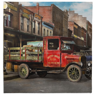 Truck - Home dressed poultry 1926 Napkin