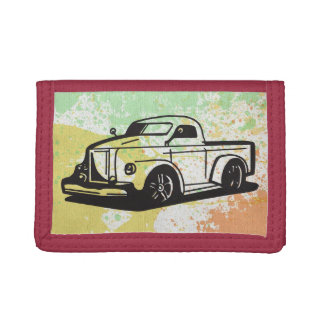 Truck Hot Rod Art Fun Boy Splatter Paint Destiny Tri-fold Wallets