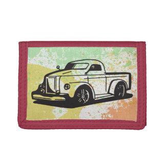 Truck Hot Rod Art Fun Boy Splatter Paint Destiny Trifold Wallet