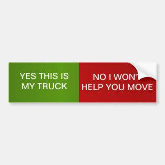 Truck Humor Bumper Sticker