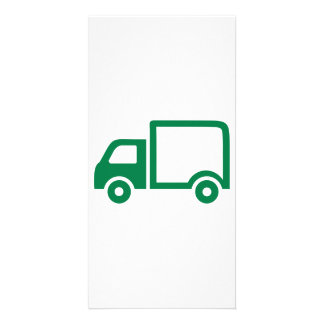 Truck icon customised photo card