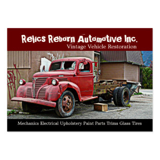 Truck in Back Alley Mechanics Repair Shop Pack Of Chubby Business Cards