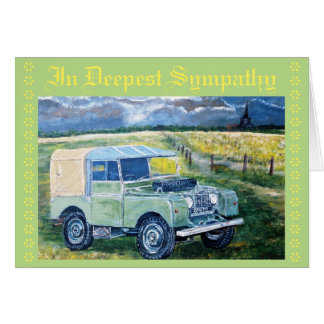 Truck~In Deepest Sympathy Card. Greeting Card