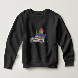 Truck kids sweat shirts kids long sleeve sweat