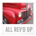 Truck Lover 70th Birthday - All Rev'd Up Custom Invitations