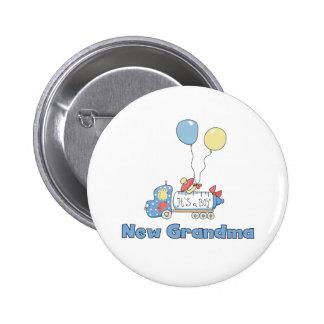 Truck New Grandma Baby Boy Button