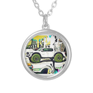 TRUCK PARK SILVER PLATED NECKLACE
