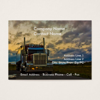 Truck Stop Sky card template