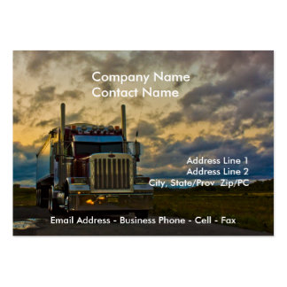 Truck Stop Sky card template Pack Of Chubby Business Cards