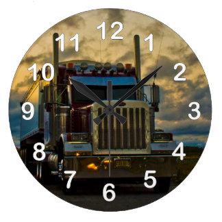 Truck Stop Sky Wall Clock