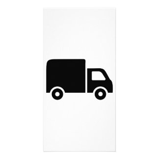 Truck symbol photo greeting card