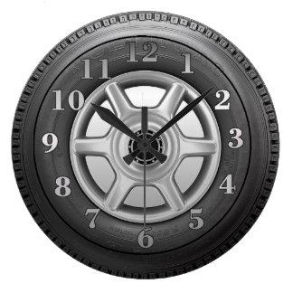 Truck Tire Mens Novelty Wall Clock