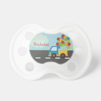 Truck Transportation Balloon Personalized Pacifier