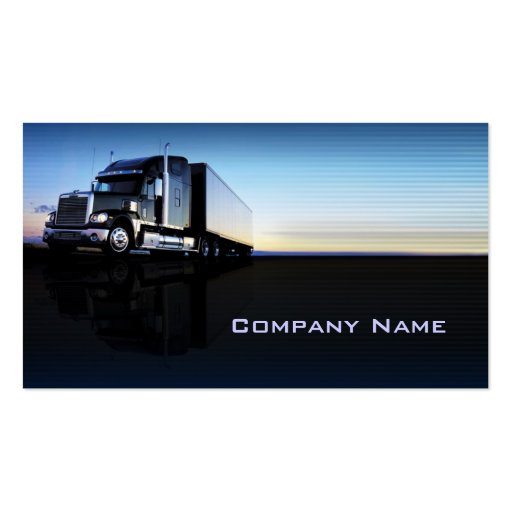 Truck transportation logistics business card zazzle for Trucking business card design