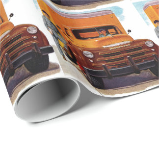 truck truckers truckin' wrapping paper