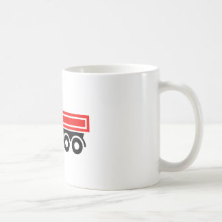 Truck with dump truck coffee mug