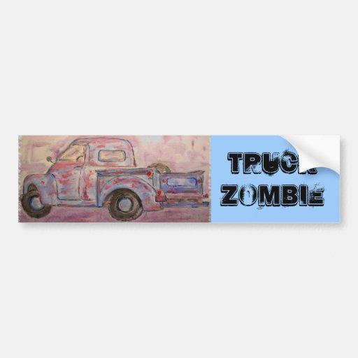 Truck Zombie Bumper Stickers