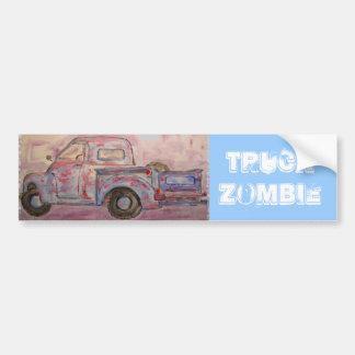 Truck Zombie Bumper Sticker