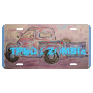 Truck Zombie License Plate