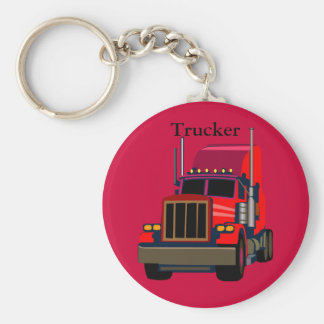 Trucker Basic Round Button Key Ring