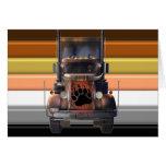 Trucker Bear Pride Greeting Card
