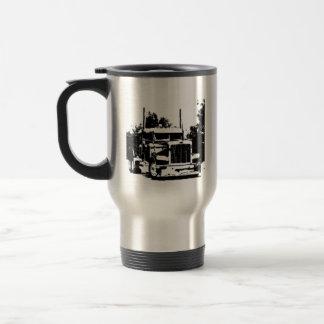 Trucker Black Silhouette Coffee Mug