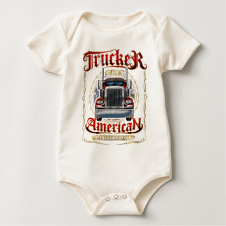 Trucker by Birth American By Grace of God Bodysuits