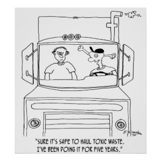 Trucker Cartoon 7395 Poster