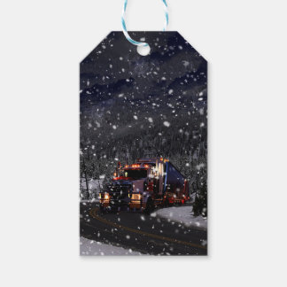 Trucker Christmas Gift Tags