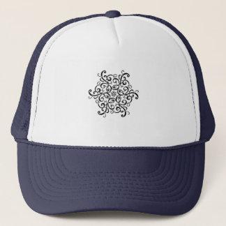 Trucker Hat-Black and White Design Trucker Hat
