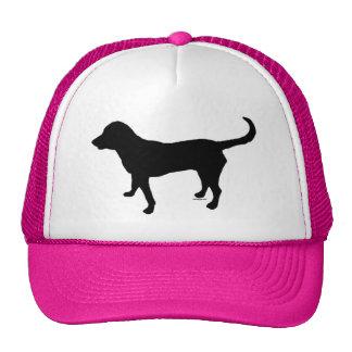Trucker hat black lab silhouette
