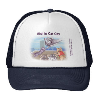 Trucker hat - cats & caticopter (Kiwi Series)
